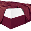 Split Corner 100% Cotton Solid 300TC Bed Skirts - burgundy
