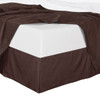 Chocolate Bed Skirt Stripe