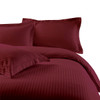 Burgundy-100%-Cotton-300-Thread-Count-Striped-Duvet-Cover-Sets