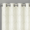 Aryanna Jacquard Floral Curtains With Top Grommets (Set of 2)- closeup-Off White