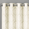 Aryanna Jacquard Floral Curtains With Top Grommets (Set of 2) -closeup-Ivory
