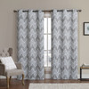 Marlie Intelligent design Blackout Weave Grommet Curtain Panels /Taupe