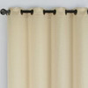 Chevron Embroidered Curtains Grommet Top Jacquard Panels (Set of 2) -closeup-Gold