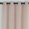 Chevron Embroidered Curtains Grommet Top Jacquard Panels (Set of 2) -closeup-Cinnamon