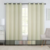Chevron Embroidered Curtains Grommet Top Jacquard Panels (Set of 2) With Colors