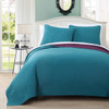 Project Runway Calking Coverlet Set Image Teal/Plum