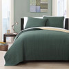 Project Runway King Coverlet Set Image Forest Green/Gold