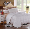 Goose Solid 300: 100% cotton 300 Thread count Solid Shell, 600 Fill Power, Box Stitch Through, All season 40 ounces fill, Medium warmth