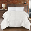 """Goose Silk Solid 450tc: 45% Silk and 55% Cotton 450 Thread count solid shell, 700 fill power, Baffle Box with 1"""" gusset, winter 56 ounces fill , High to Extra Warmth"""