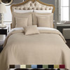 Linen/Checkered Quilted Multi-Piece coverlet Set Image/