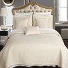 Ivory/Quilted Wrinkle-Free 6-Piece Bedspread Set