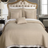Linen/Checkered Quilted 6-Piece coverlet Set Image/