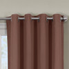 Close Up Luxor Grommet Top Curtain Panel- Brown