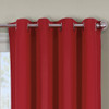 Close Up Luxor Grommet Top Curtain Panel- Red