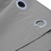 Close Up Luxor Grommet Top Curtain Panel- Gray