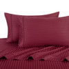 Burgundy-Pillowcase-Sets-500-Thread-Count-100%-Cotton-Striped