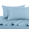 Blue-Pillowcase-Sets-500-Thread-Count-100%-Cotton-Striped