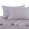 Lilac-Pillowcase-Sets-500-Thread-Count-100%-Cotton-Striped