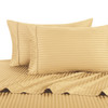 Gold-Pillowcase-Sets-500-Thread-Count-100%-Cotton-Striped