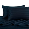 Navy-Pillowcase-Sets-500-Thread-Count-100%-Cotton-Striped