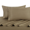 Taupe-Pillowcase-Sets-500-Thread-Count-100%-Cotton-Striped