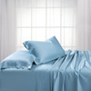 Blue-Split King Dual King Adjustable Bed Sheets Bamboo/Cotton