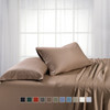 Taupe-Split King Dual King Adjustable Bed Sheets Bamboo/Cotton