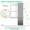 How To Measure curtain Info Graphic