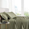 Sage-California king bamboo sheets Luxurious 100% Bamboo Viscose Sheet Set