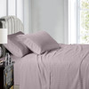 Lilack-Luxury Cal King Cotton Sheets 600 Thread Count Damask Striped Bed Sheet Set