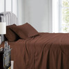 Chocolate-Luxury Cal King Cotton Sheets 600 Thread Count Damask Striped Bed Sheet Set