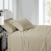 Linen-Luxury Cal King Cotton Sheets 600 Thread Count Damask Striped Bed Sheet Set