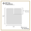 Split Top King Fitted Sheet 100% Cotton 608 Thread Count diagram