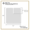 Split Top California King Mattress-diagram