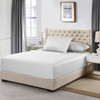White Flex King ( Top Split) Eucalyptus 600 Thread Count Fitted Sheet