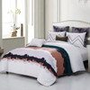 Water Color 7 Piece Cotton Duvet Cover Set