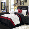 Atlantis Nature Inspired 8-Piece Ivory Comforter Set Embroidered