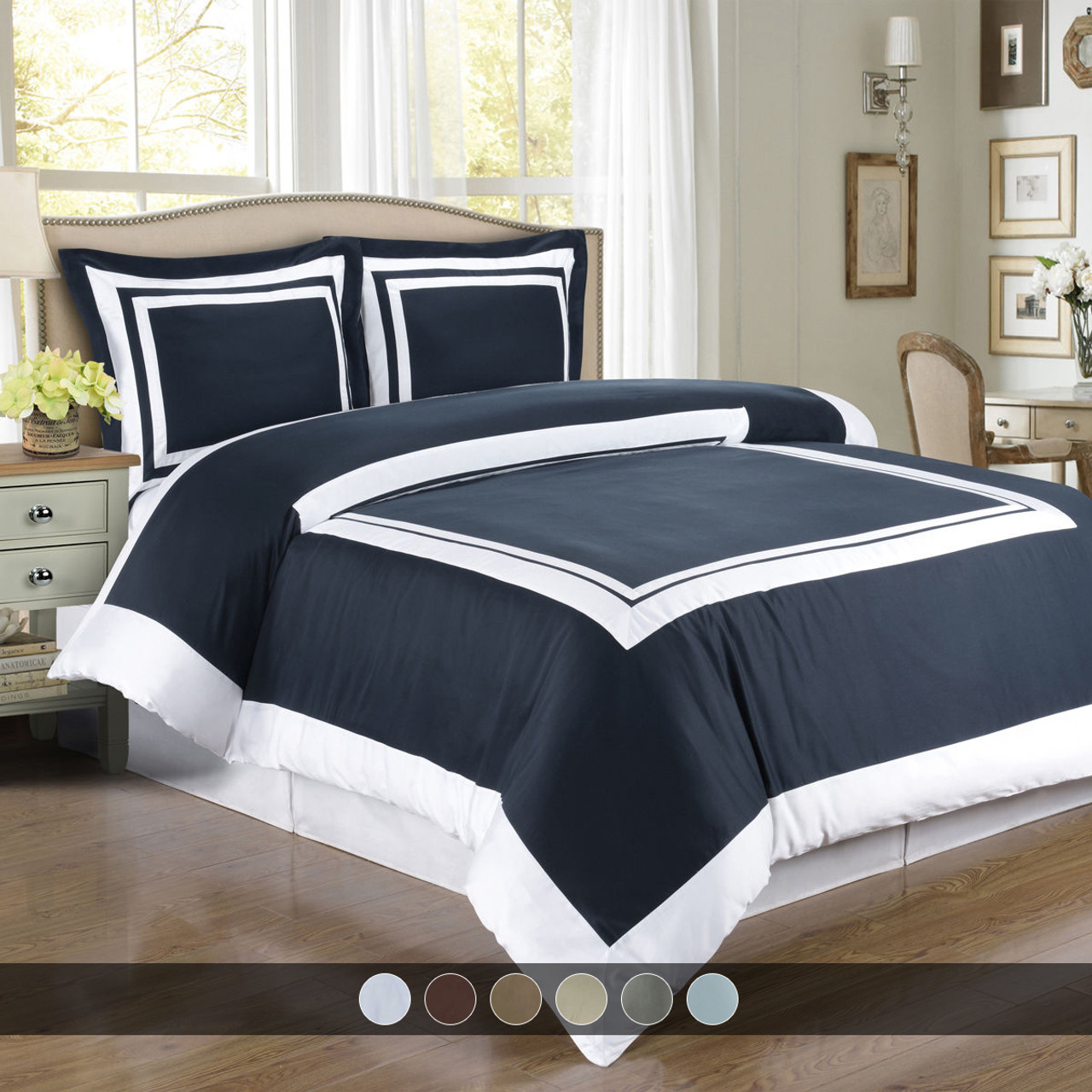 4 Styles 3 Sizes LUXURIOUS Sierra 100/% Egyptian Cotton Duvet Cover Sets