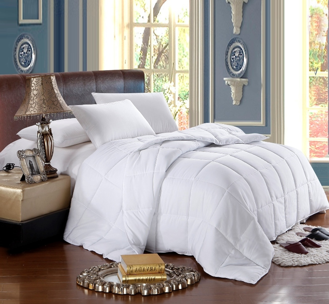 White Reversible Alternative Down Comforter King Size