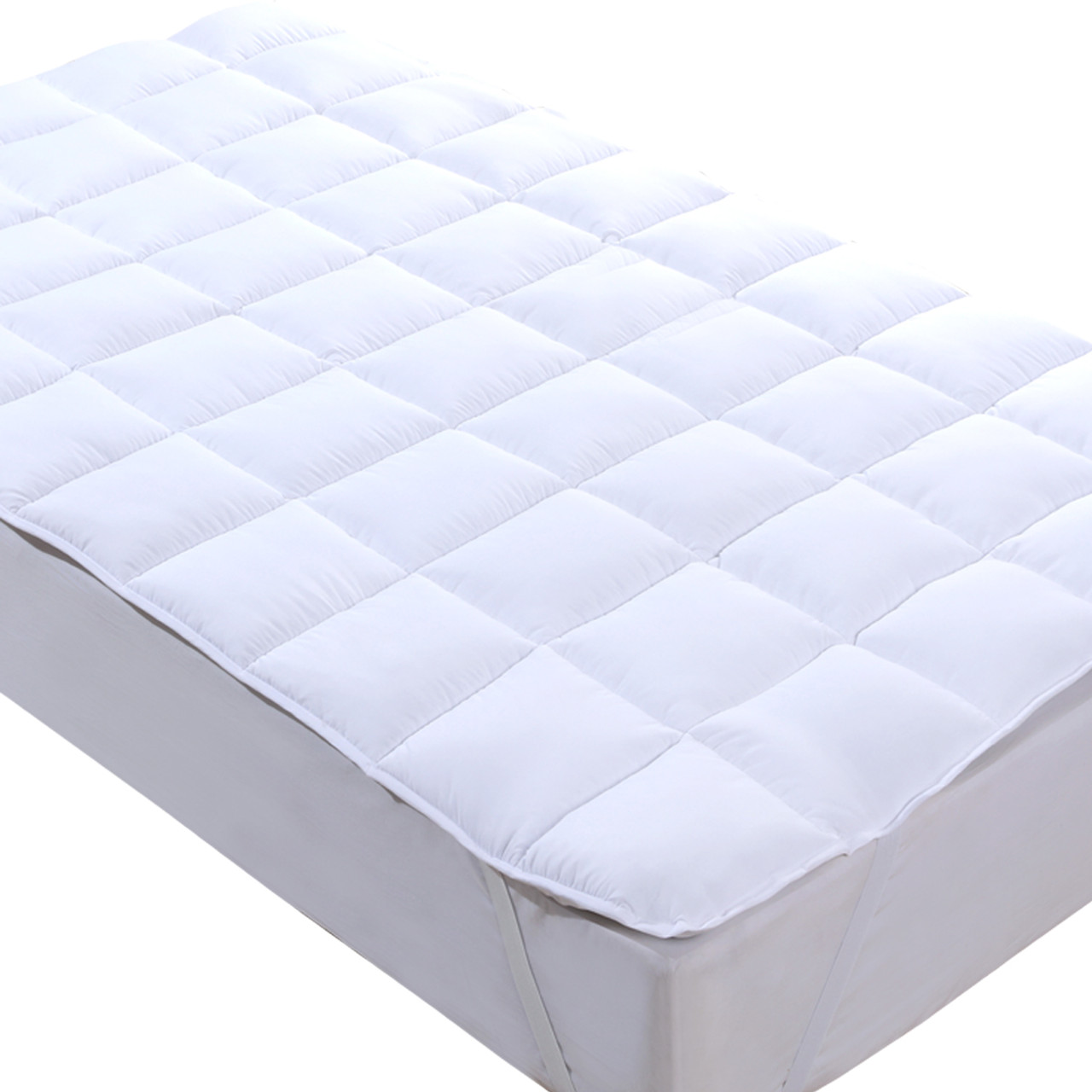 3 Inch Overfilled Plush Down Alternative Mattress Topper Microfiber Mattress Pad