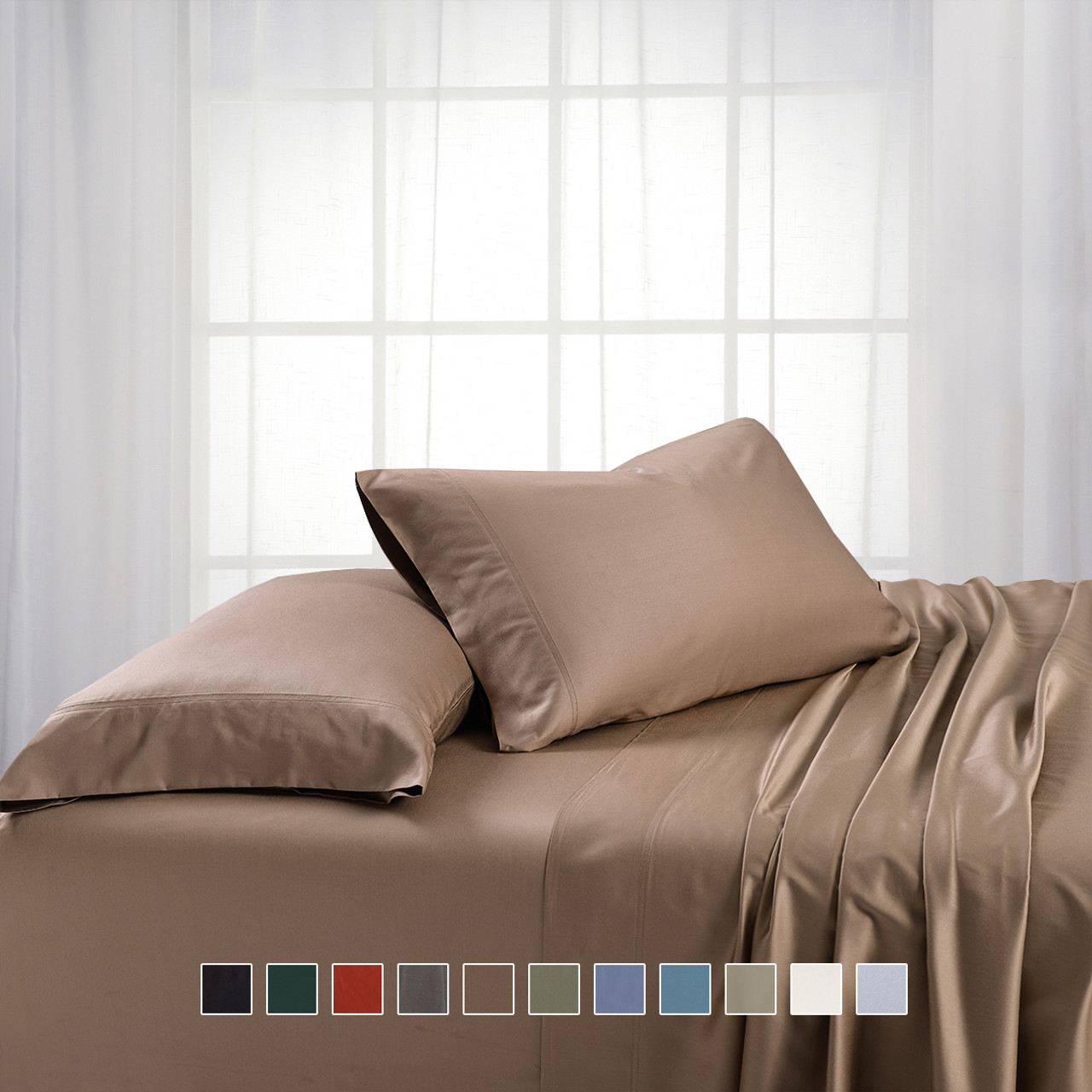 Silky Cotton Bamboo Cotton Blended Split King Dual King