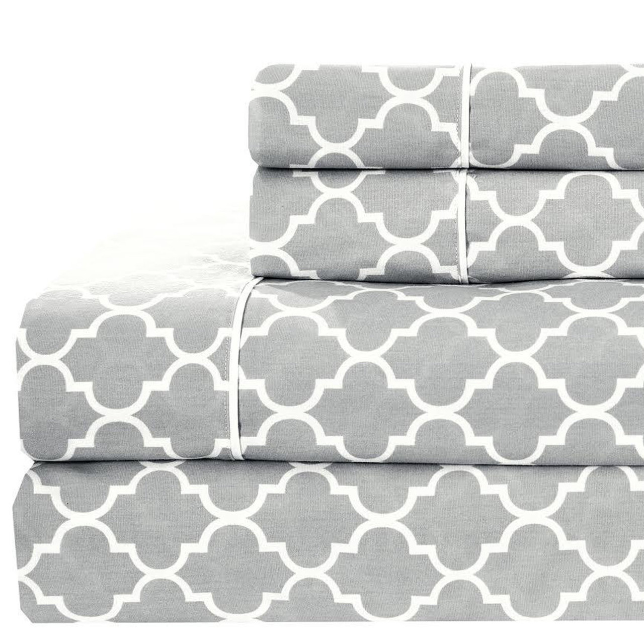 California King Printed Sheets Meridian 100 Cotton Percale Weave