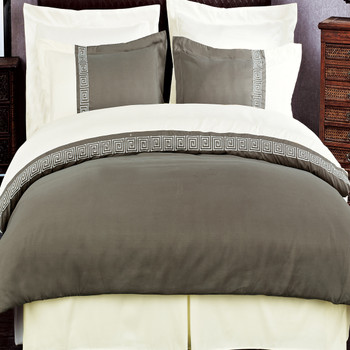 Taupe/Beige-Astrid-Embroidered-3-Piece-Duvet-Cover-Sets