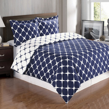 Navy/White-Bloomingdale-Cotton-Duvet-Cover-Set