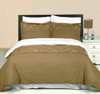 Geneva Embroidered 3-Piece Duvet Set
