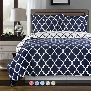 Navy-Meridian-100%-Cotton-Duvet-Cover-Sets