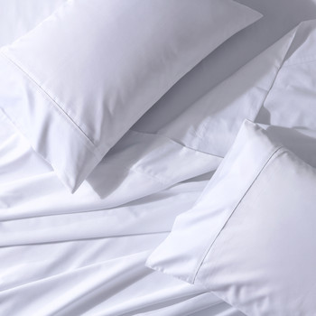 22 inch Deep Pocket Sheets Wrinkle-Resistant Cotton Blend Bed Sheet Sets 650Tc Solid