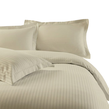 Linen-100%-Cotton-300-Thread-Count-Striped-Duvet-Cover-Sets