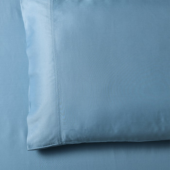 Blue-Super-Soft-100-Bamboo-Viscose-Pillowcases-Pair