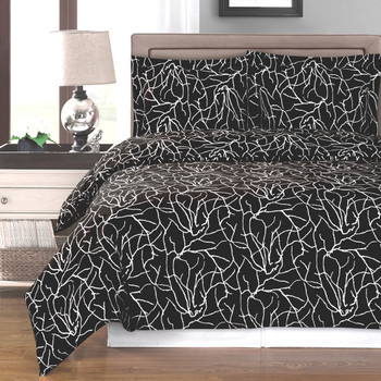 Black/White-Ema-Combed-Cotton-Duvet-Cover-Set